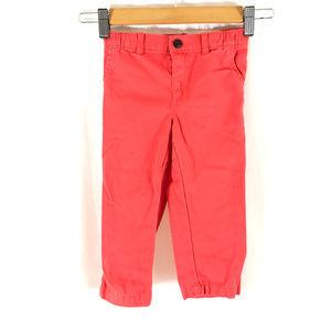 Carters Girls Pants Elastic Waist Coral Orange 24m